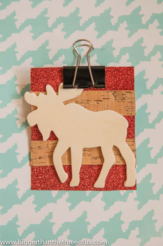 Scrapbook Paper Ornament with a Moose DIY by Bigger Than The Three Of Us-3