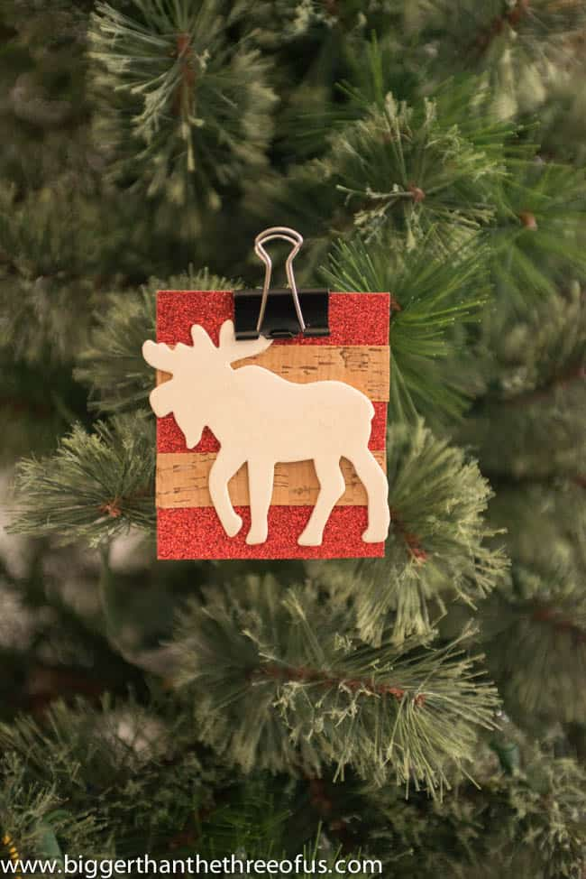 Scrapbook Paper Ornament with a Moose DIY by Bigger Than The Three Of Us-4