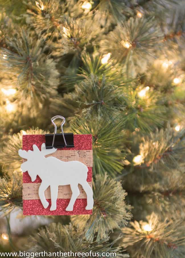 Scrapbook Paper Ornament with a Moose DIY by Bigger Than The Three Of Us-5