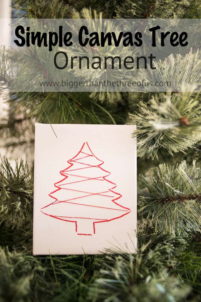 Simple Canvas Tree Ornament-1
