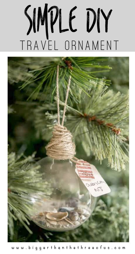 Travel Keepsake Ornament | Easy DIY Christmas Ornament. #christmas #crafting #christmasornament #craft #diyproject