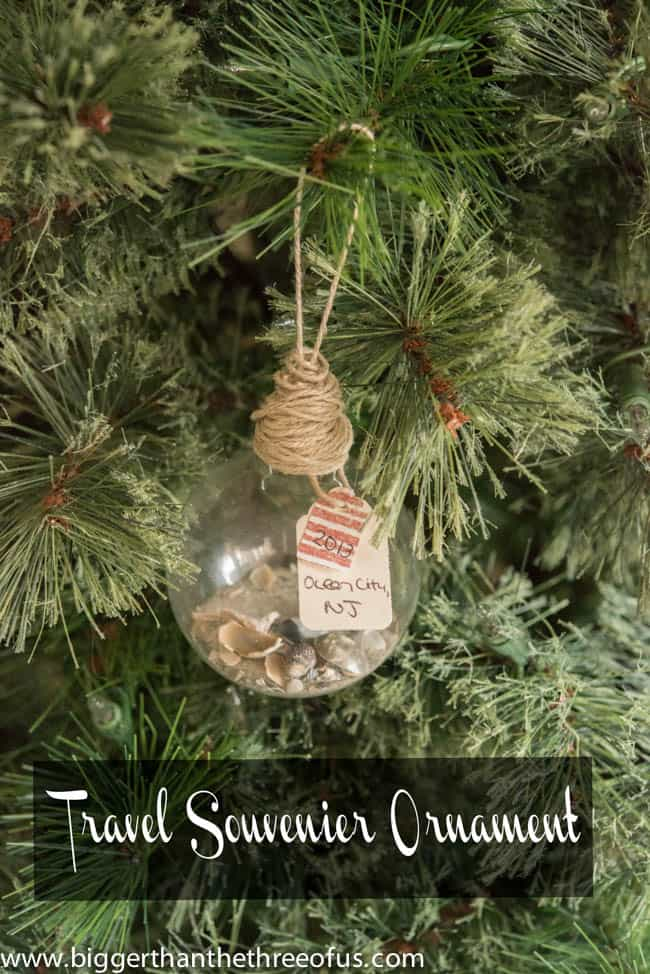 Travel Keepsake Ornament | Easy DIY Christmas Ornament. #christmas #crafting #christmasornament #craft #diyproject