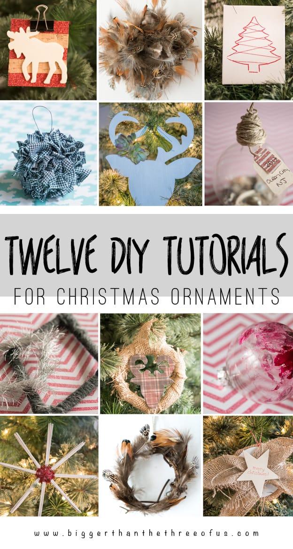 12 DIY Christmas Ornament Tutorials