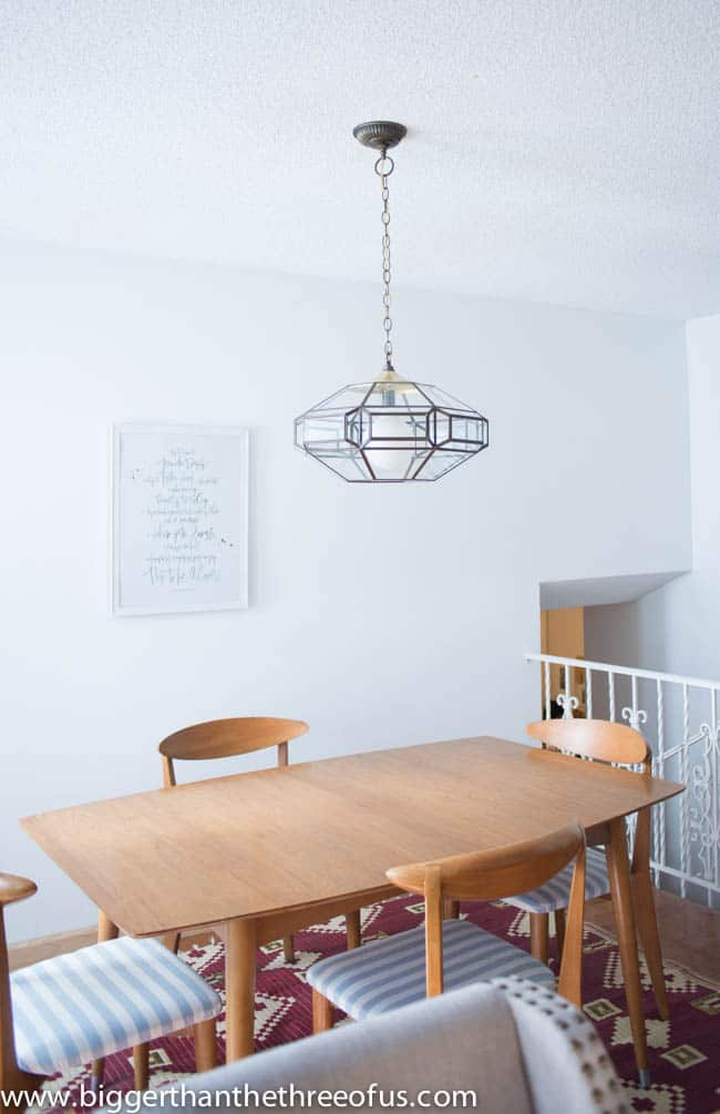 Upcycled Thrift Store Pendant Light for DIY Kitchen Remodel-10