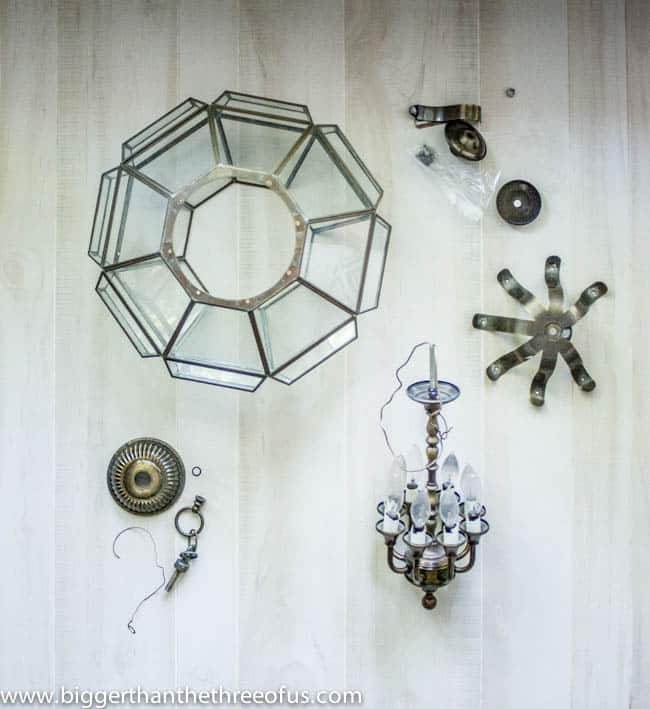 Upcycled Thrift Store Pendant Light for DIY Kitchen Remodel-3