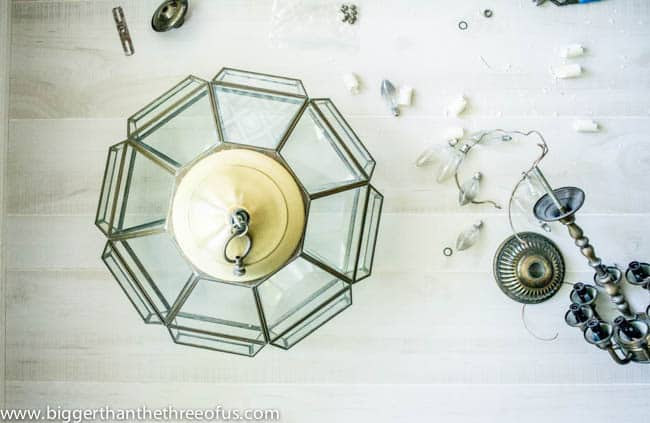 Upcycled Thrift Store Pendant Light for DIY Kitchen Remodel-5