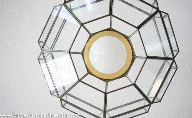 Upcycled Thrift Store Pendant Light for DIY Kitchen Remodel-7