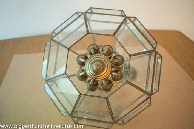 Upcycled Thrift Store Pendant Light for DIY Kitchen Remodel