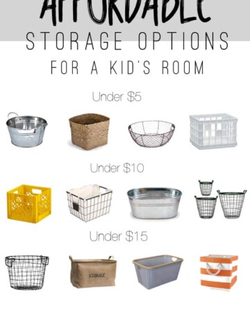 Affordable Storage Options for a Kid's Room