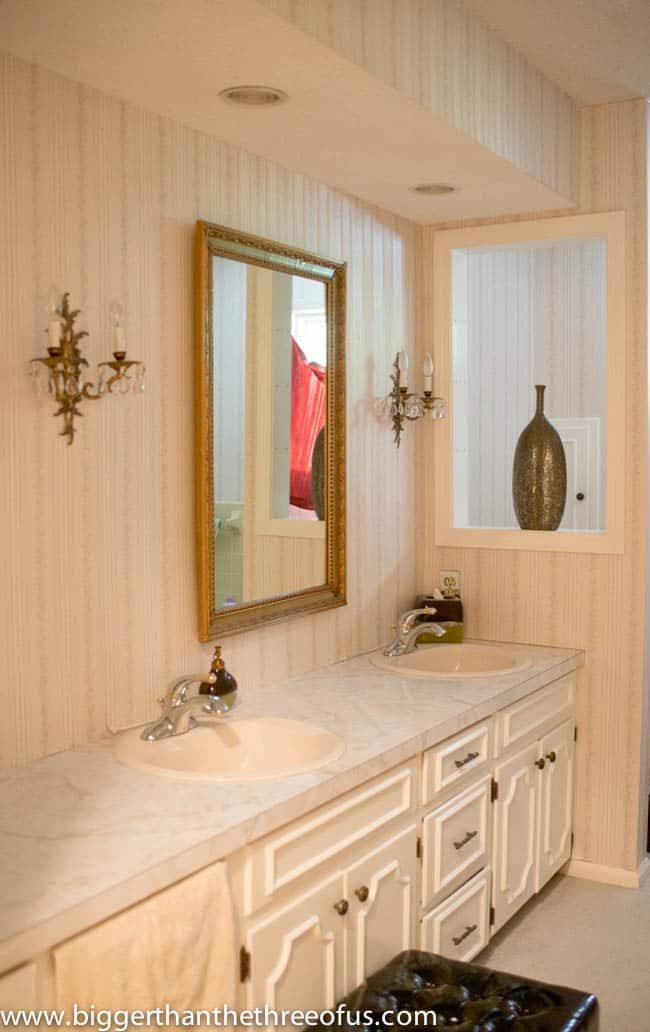 Bathroom Before Picture  After  DIY Bathroom Renovation. DIY Bathroom Remodel   Before and After