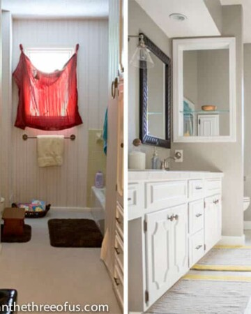 Before and After DIY Bathroom Renovation