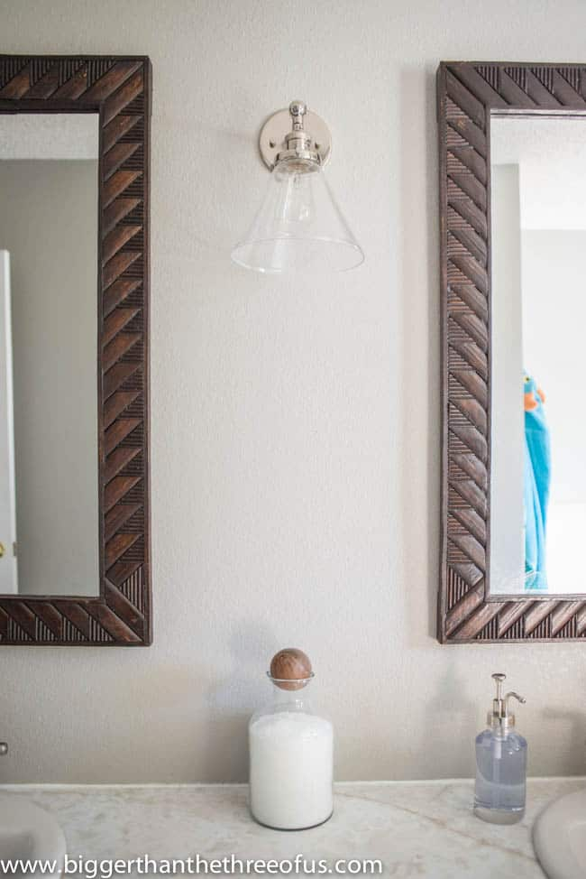 Double Mirrors in Bathroom
