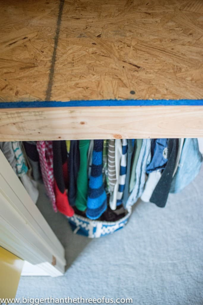 DIY Loft Closet Demo Build for Boys Room-1