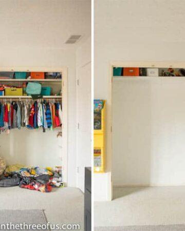 Closet Demo for loft bed