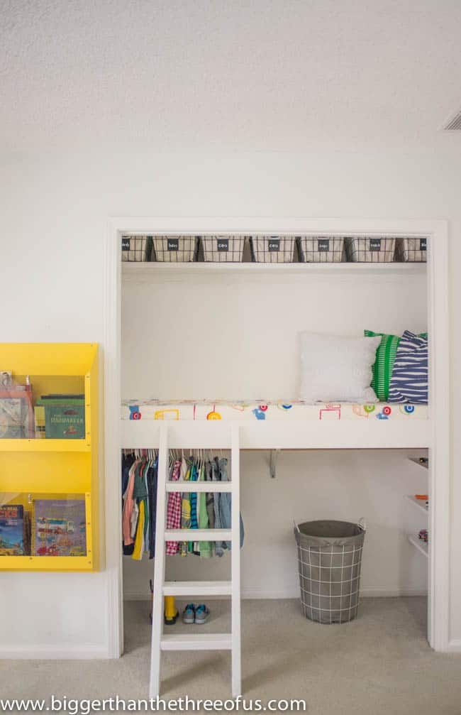 DIY Closet Loft for Kids Bedroom