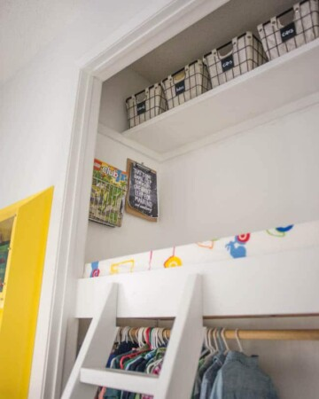 Closet loft in Kids Bedroom