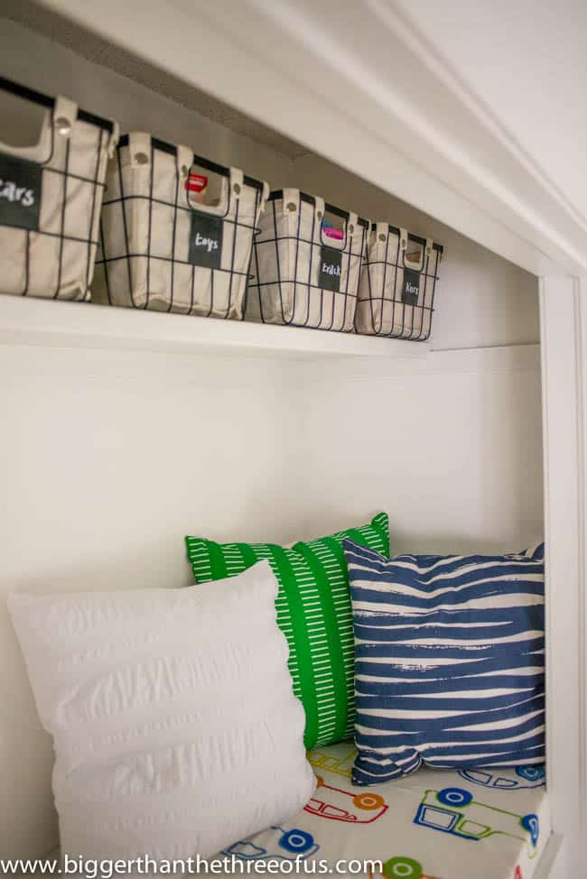 Kid Reading Loft in Closet