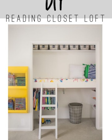 This tutorial will show you how to build a DIY Reading Loft in the closet!