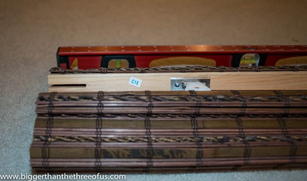 Cut bamboo blinds to size at home