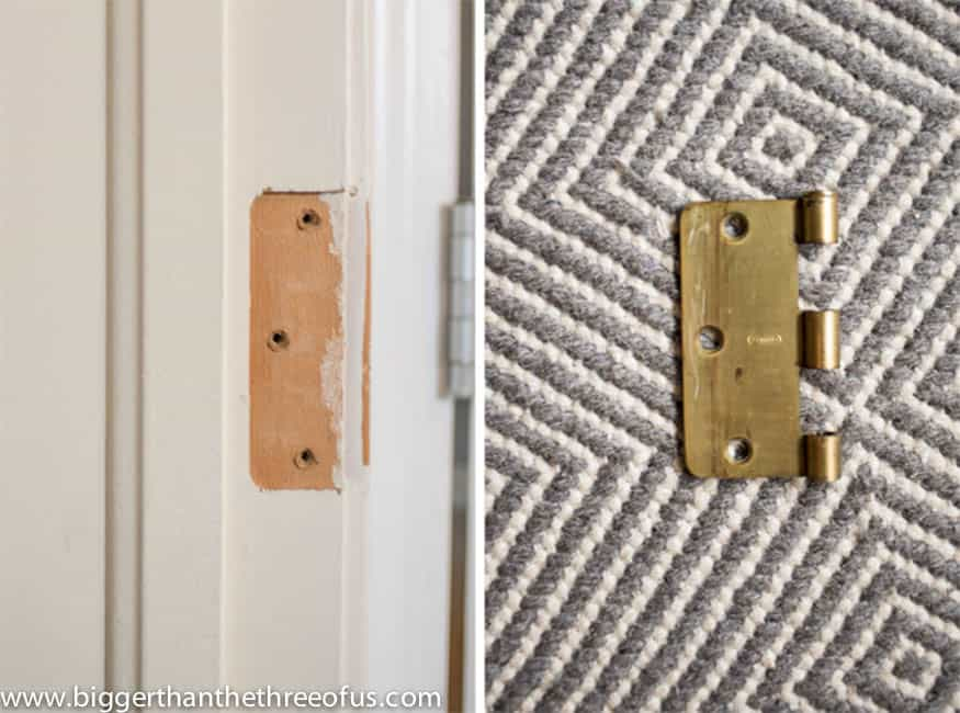 DIY Tutorial for Filling Hinge Holes In Doors by Bigger Than The Three Of Us (6 of 7)
