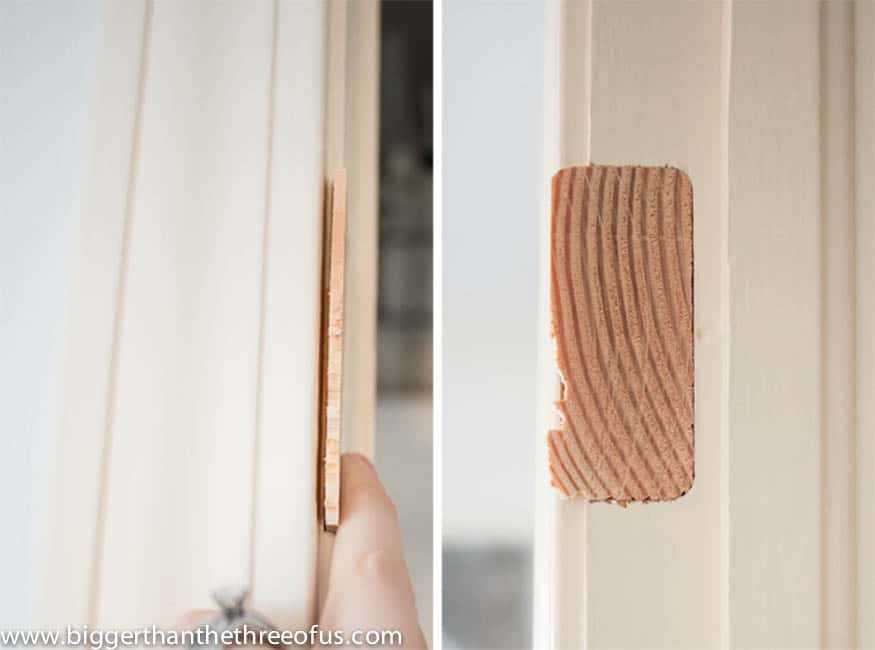 Filling Door Frame Holes