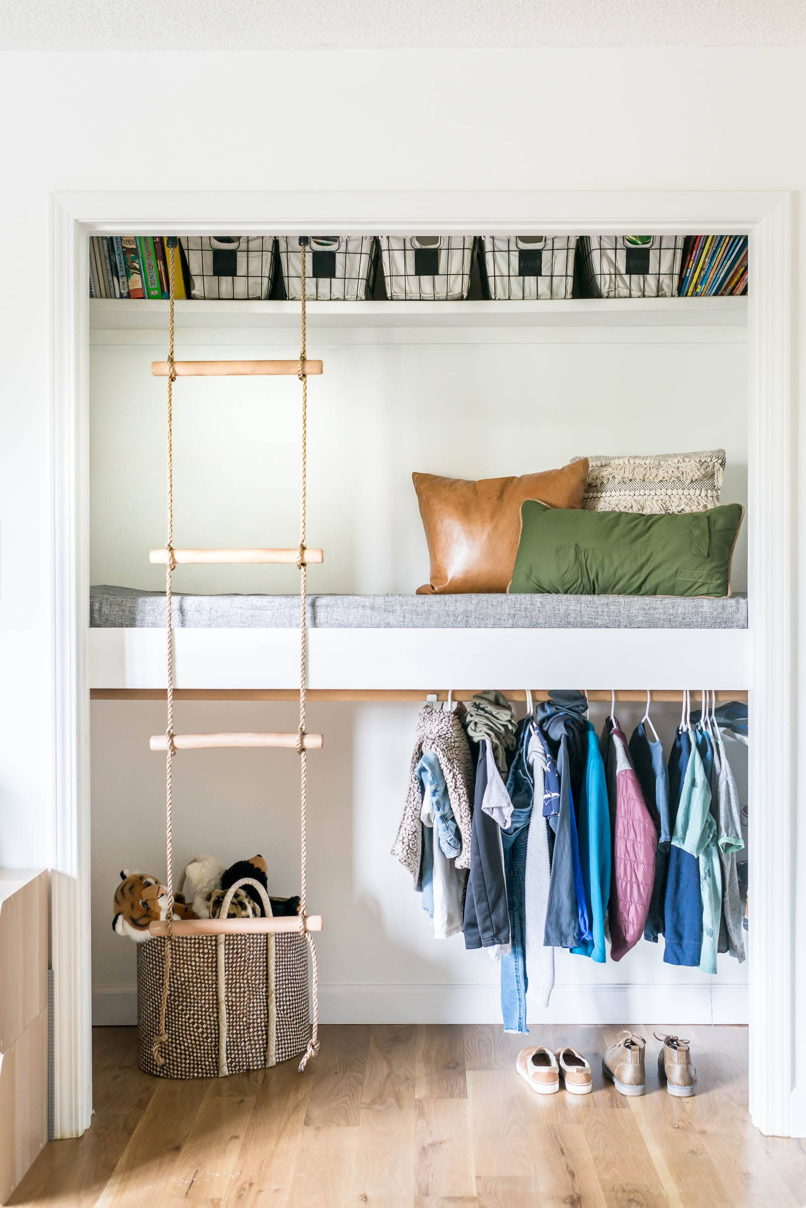 Loft Bed with closet