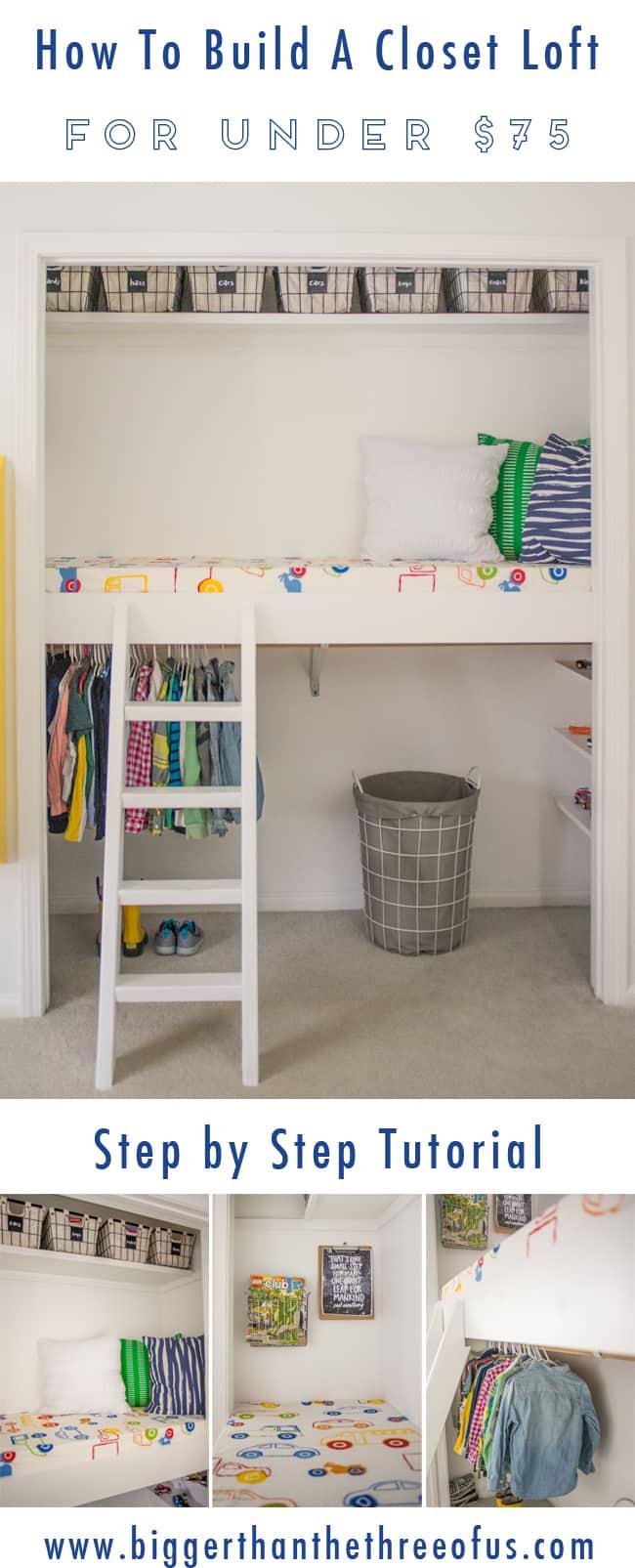 DIY Reading Loft In A Closet Tutorial