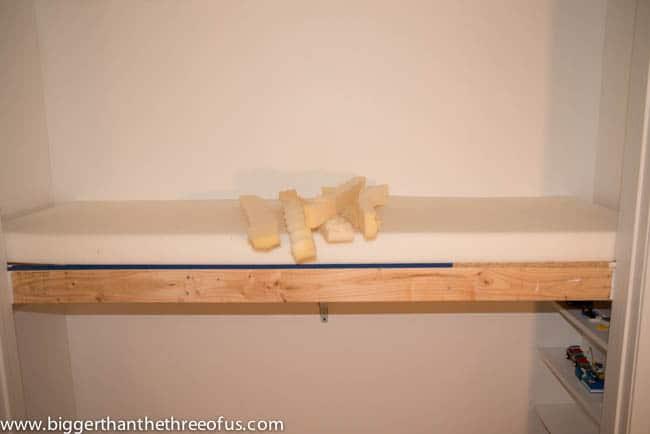 Putting foam insert in Loft