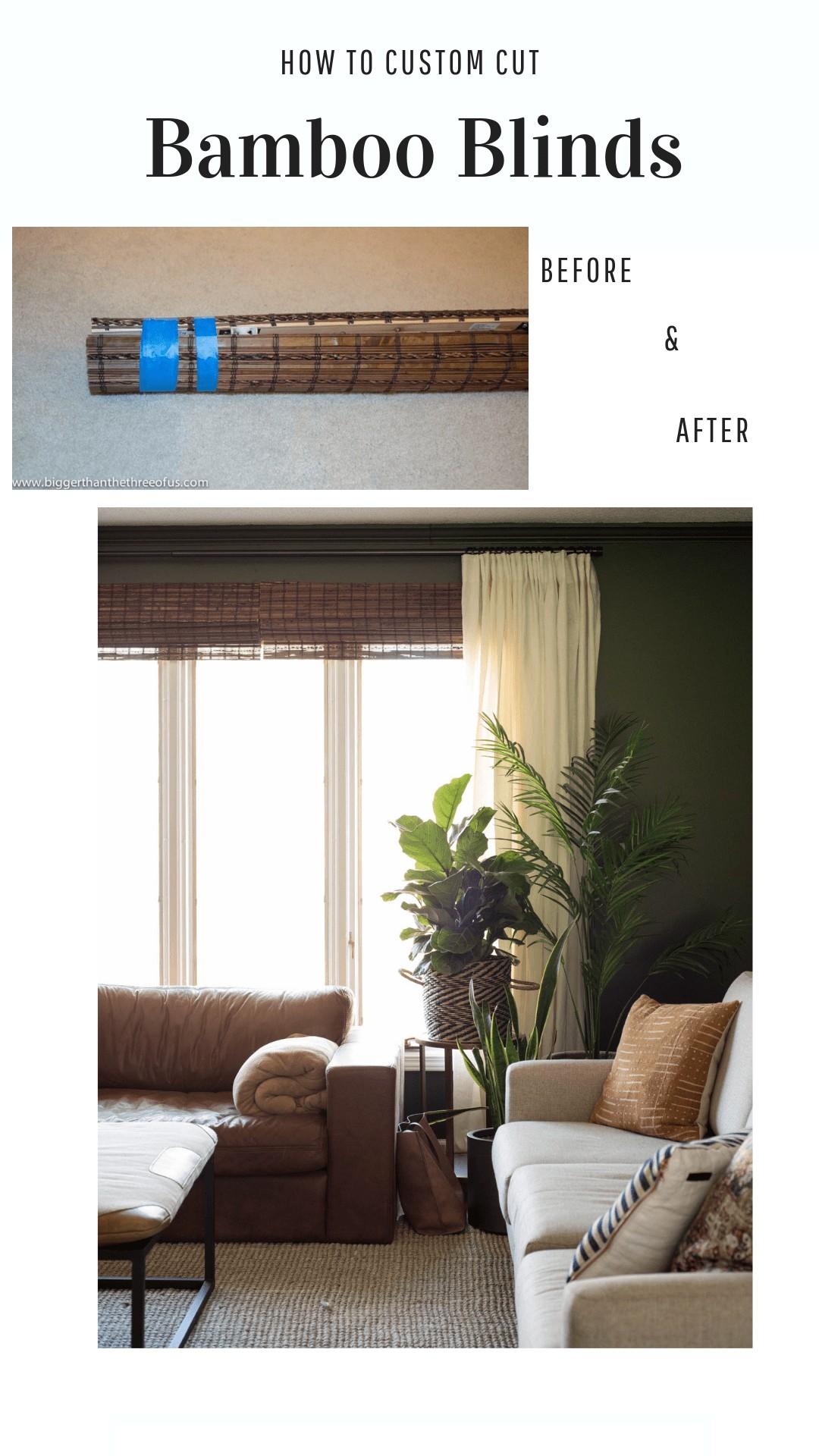 Custom cut bamboo blinds