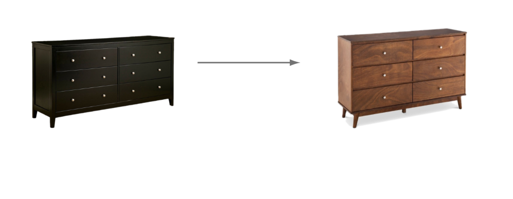 Switch up a console table with a dresser to change your decor