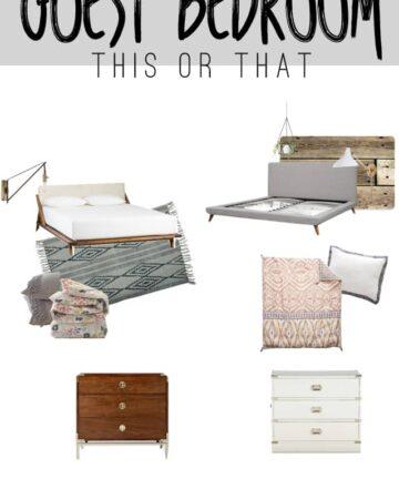 Eclectic Guest Bedroom Mood Board