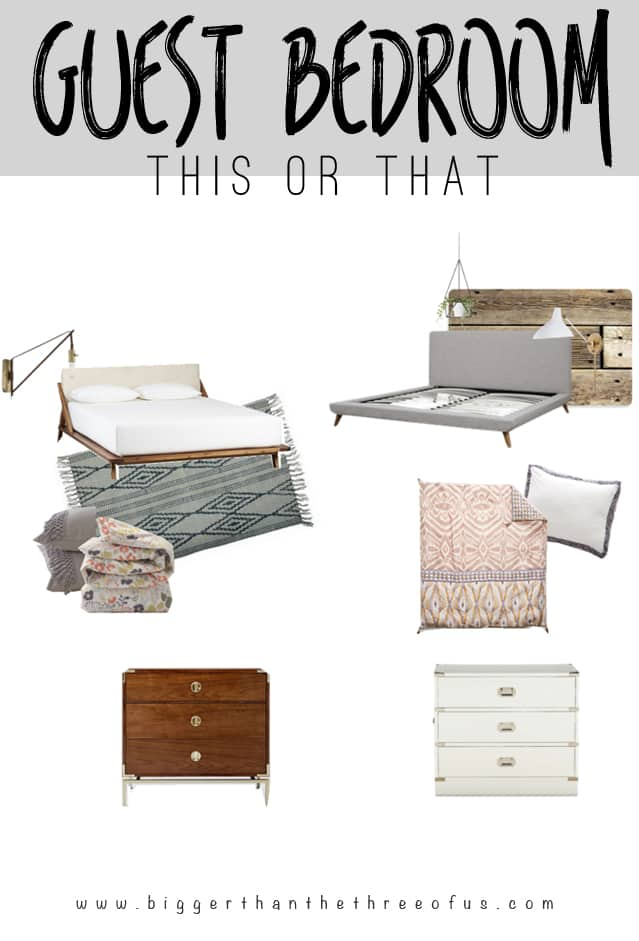 Eclectic Guest Bedroom Mood Board