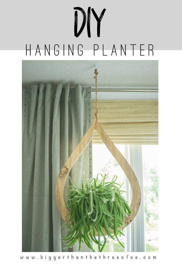 DIY Mid Century Inspired Plant Hanger
