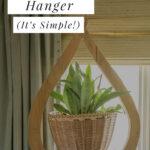 Indoor plant hanger DIY