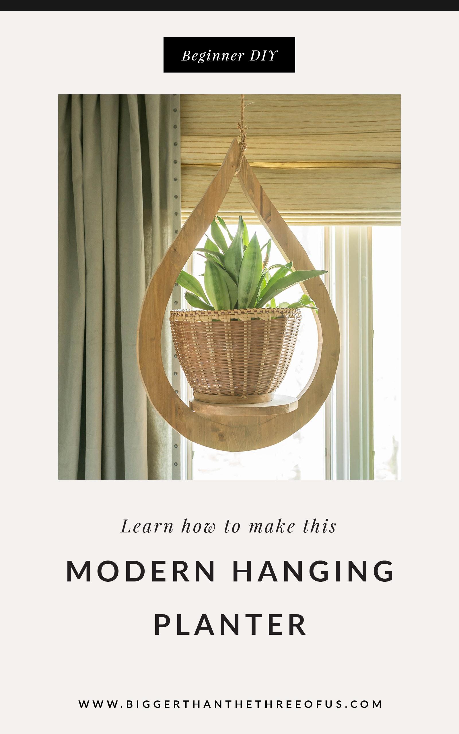 DIY wood hanging planter