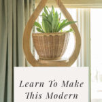 wooden plant hanger DIY