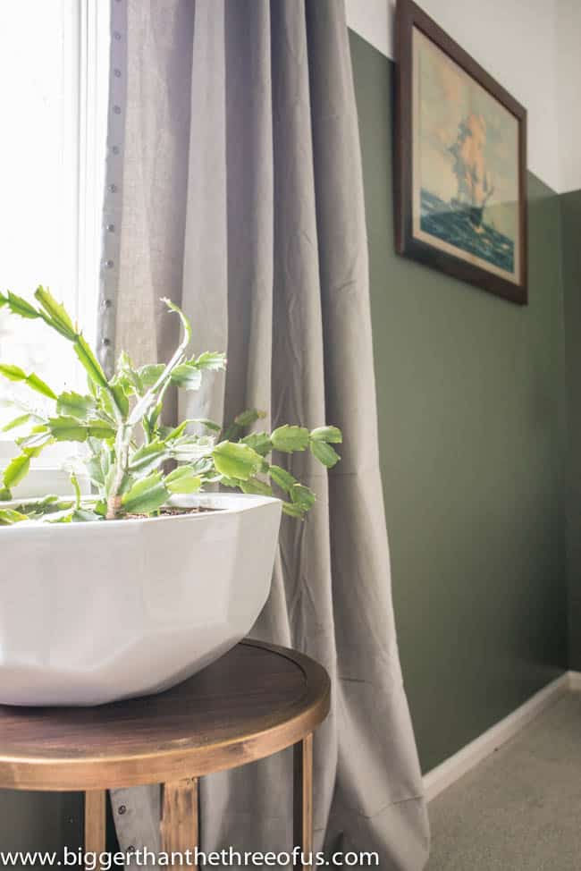 Geometric Planter in Guest Bedroom