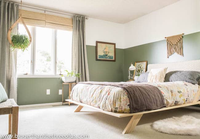 DIY Modern Bed in Guest Bedroom Reveal