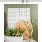 You can paint this!! It's so simple! DIY Art Canvas Painting Tutorial