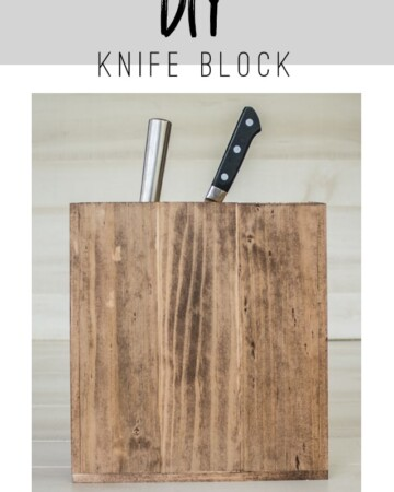 Anthropologie Inspired DIY Tutorial for a Knife Block