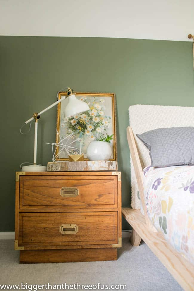 Campaign nightstand in Guest Bedroom