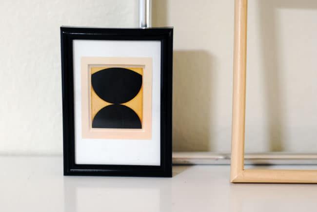 Frame a magazine clipping for a gallery wall feature