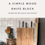 kitchen knife block DIY