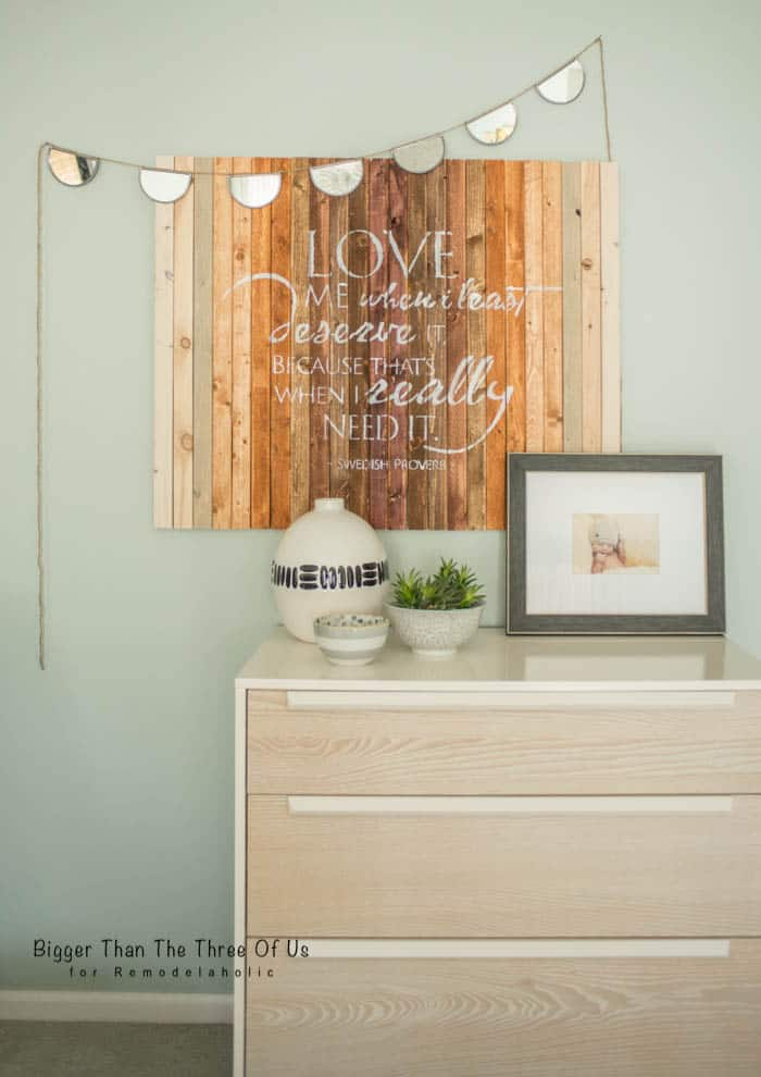 DIY ombre wood art