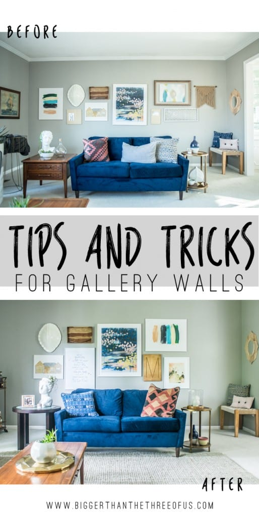 Gallery wall Reveal Tips and Tricks