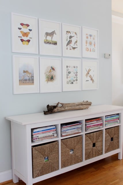 Grid style gallery wall by Simple Stylings