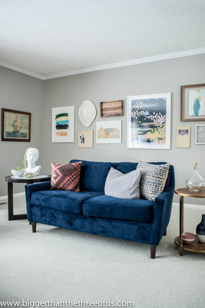 Living Room Gallery Wall with Design Help - Bigger Than ...