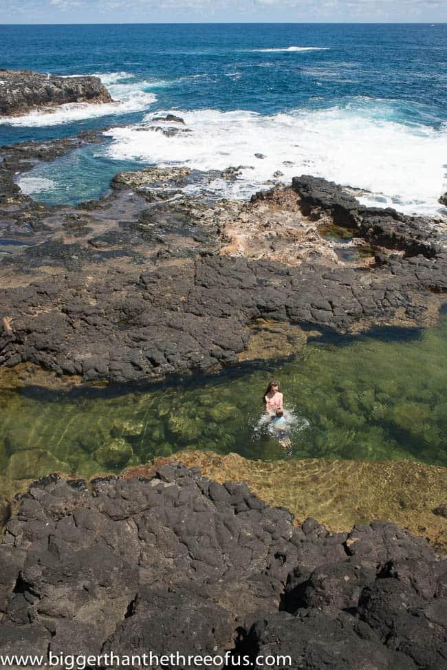 Secret Lava Pools Kauai