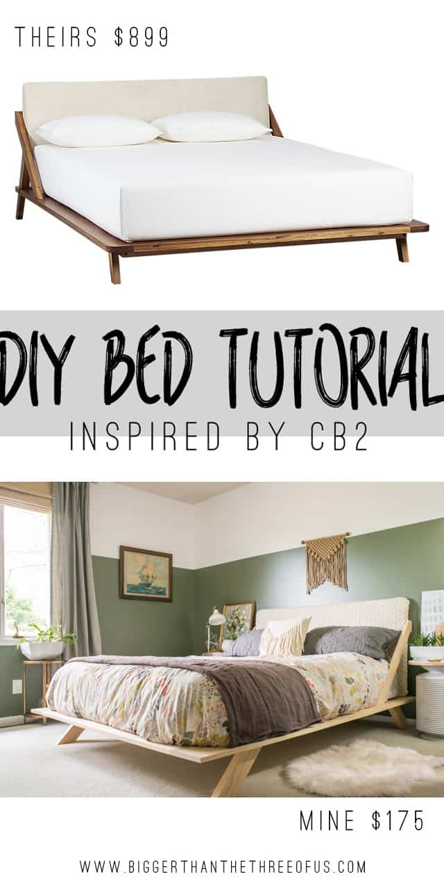 make this mid century modern bed inspired by one from cb2