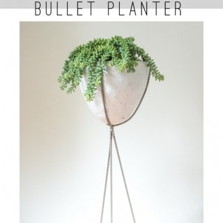 Make this Mid-Century Modern Bullet Planter